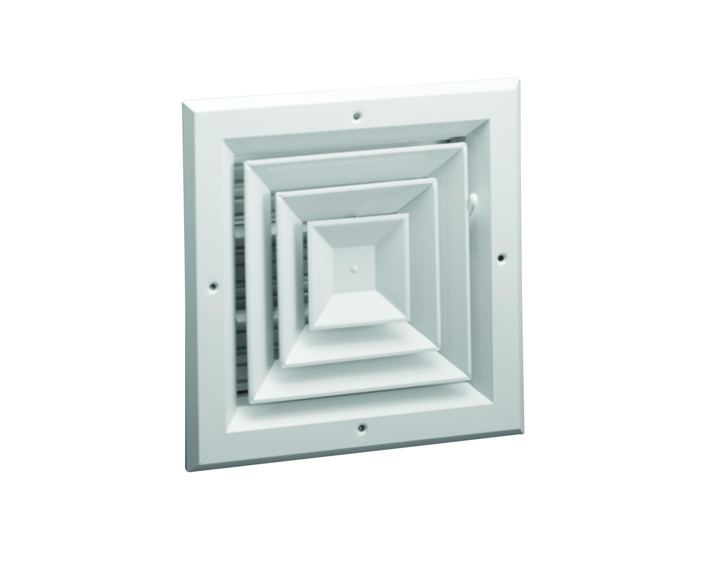 A504 Aluminum 4 way Ceiling Diffuser MS or OBD damper Hart  #736A58
