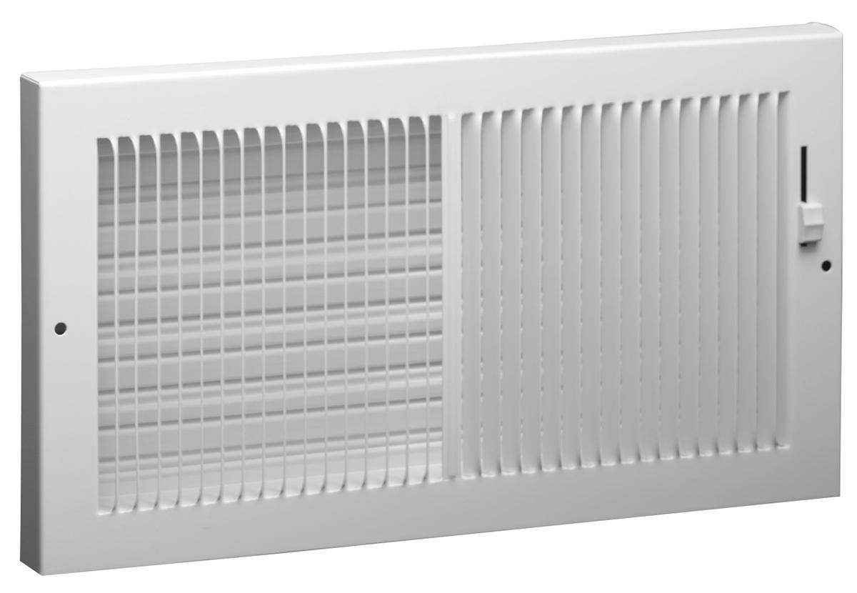 664 Steel Baseboard Register Multi Shutter Damper
