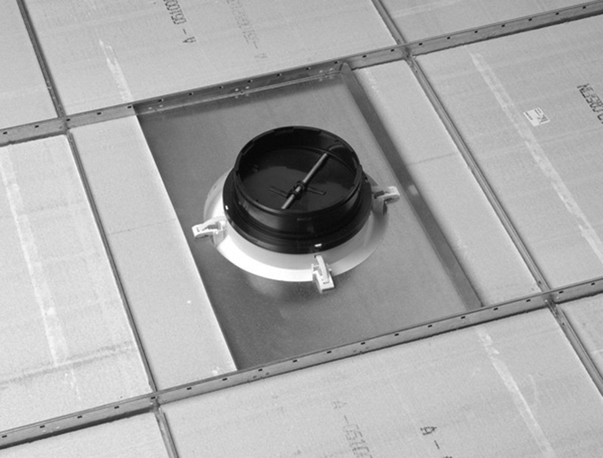 Linear Diffuser With Damper : Rz round rezzin ceiling diffuser integral
