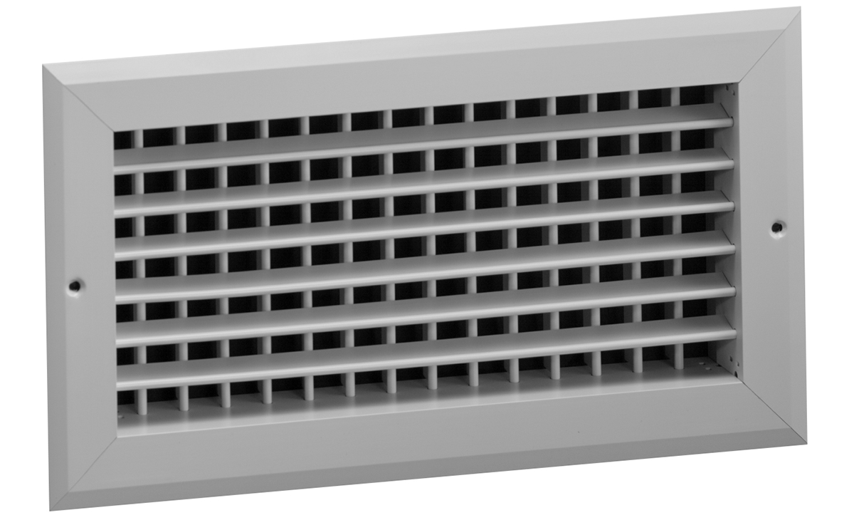 Double Deflection Grille With Damper : Hv aluminum double deflection register no damper hart