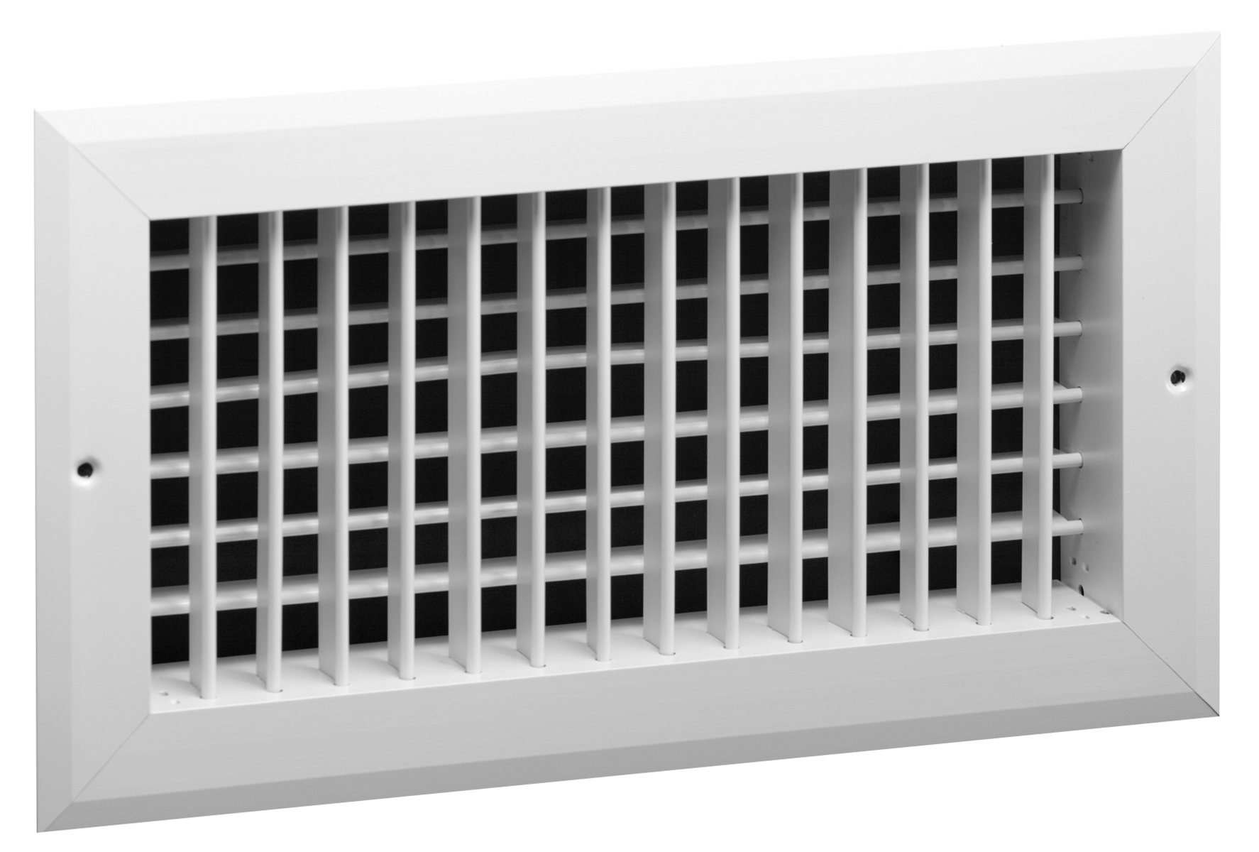 Double Deflection Grille With Damper : Vh aluminum double deflection register no damper hart