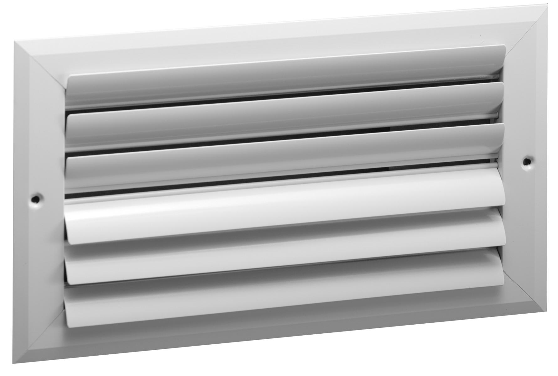 Ch2 Aluminum Curved Blade 2 Way Register No Damper