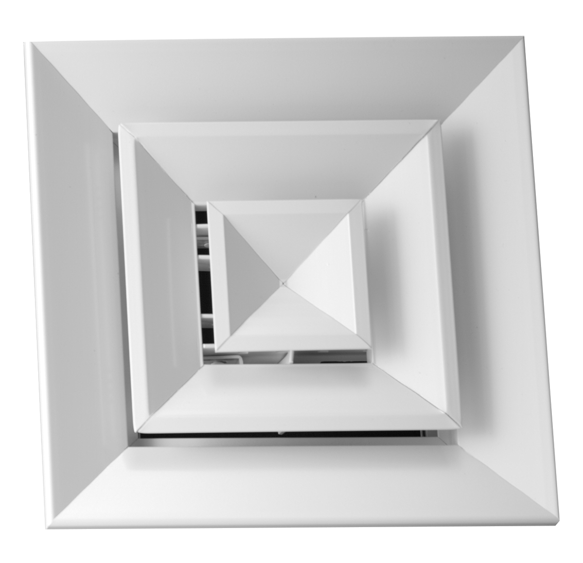 ARF Aluminum Louvered Ceiling Diffuser Flush Margin Hart amp Cooley #272727