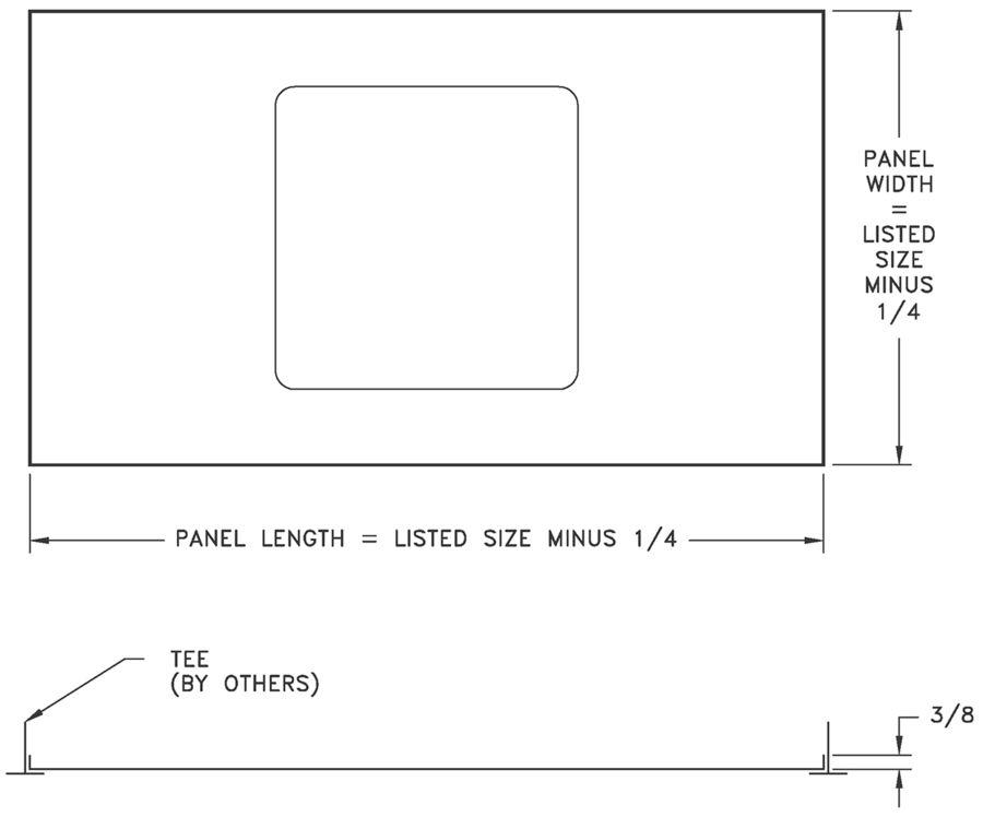 P Panel Filler Panel To Convert Sheetrock Grd For T Bar