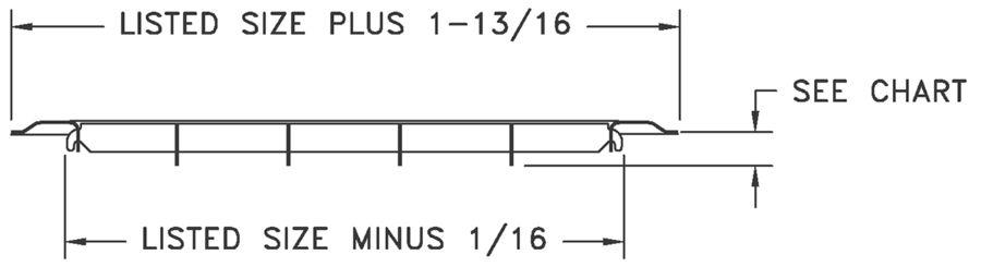 265 - Heavy Duty Steel Floor Grille - Dimensional Drawing