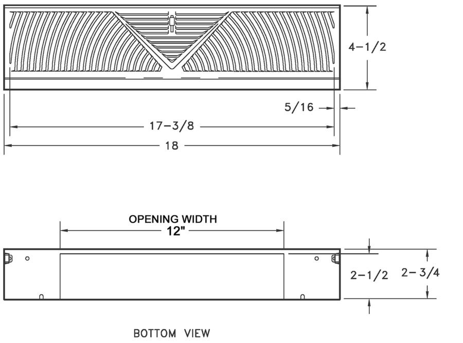 406 - Steel Baseboard Diffuser 4.5