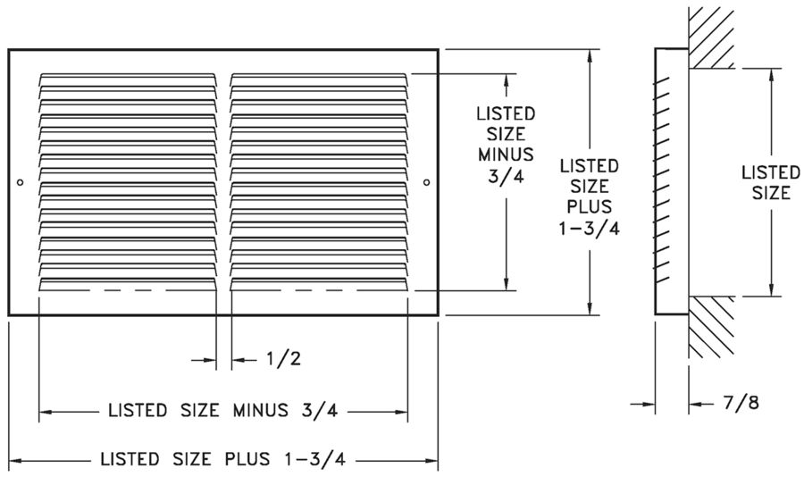 674 - Steel Baseboard Return -dimensional drawing