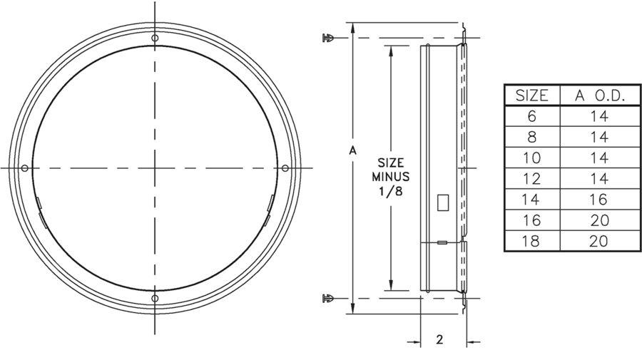 5400 - Galvanized Steel Ring Collar (6-18