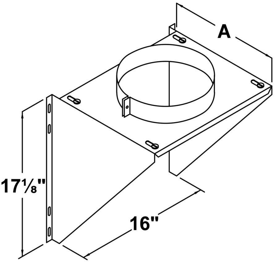 TLCIWS - Adjustable Intermediate Wall Support - dimensional drawing