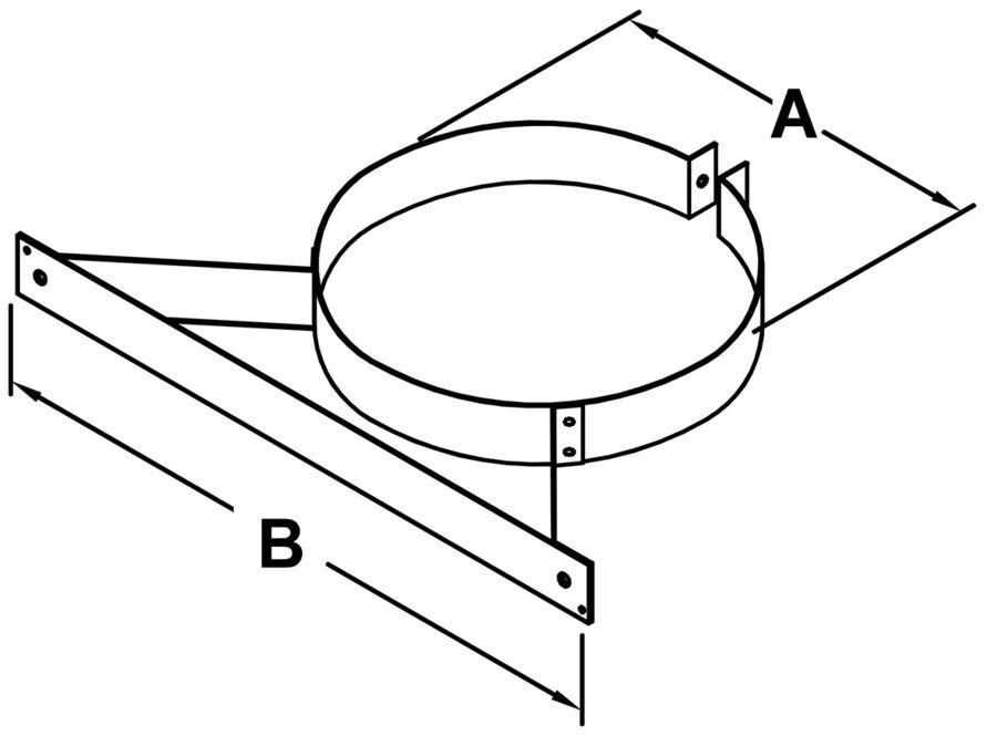 TLCWB - Wall Band - dimensional drawing