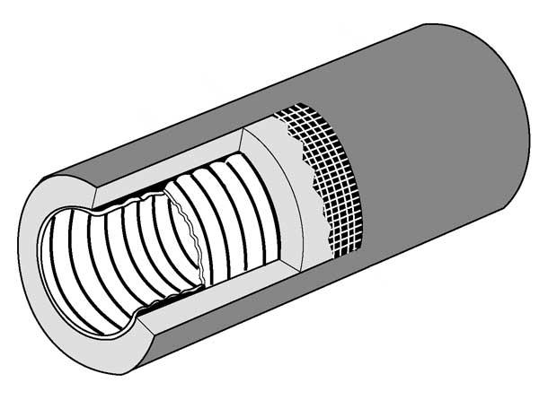 HC Flexible duct (cutaway)