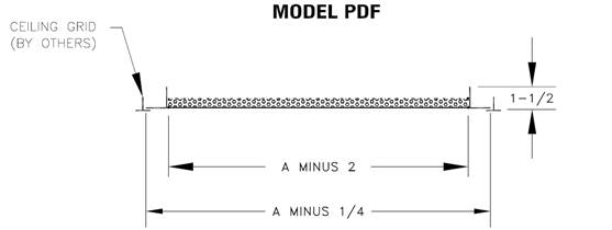 PDF — Steel Framed Perforated Panel - dimensional drawing