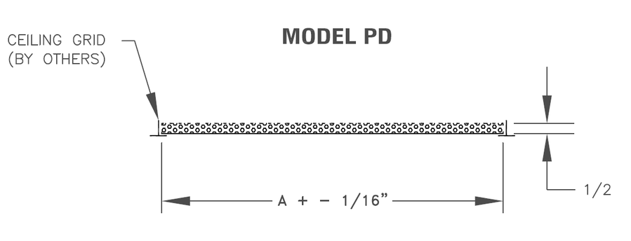 PD - Steel Perforated Panel - dimensional drawing