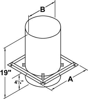 TLCFRS - Firestop Radiation Shield - dimensional drawing