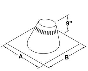 TLCF6 - Adjustable Flashing Assembly 0 - 6/12 pitch - dimensional drawing